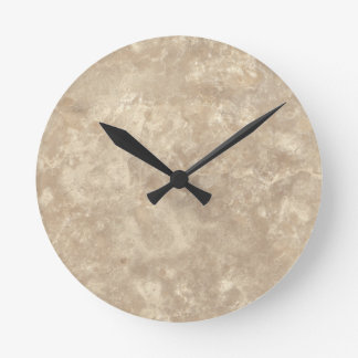 Botticino II Stone Pattern Background Round Clock