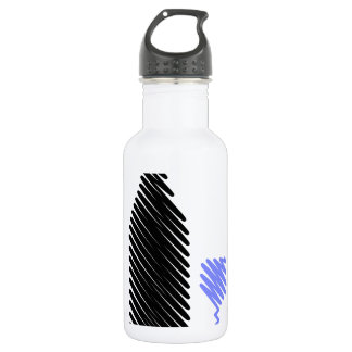 Bottle and glass sketched 532 ml water bottle