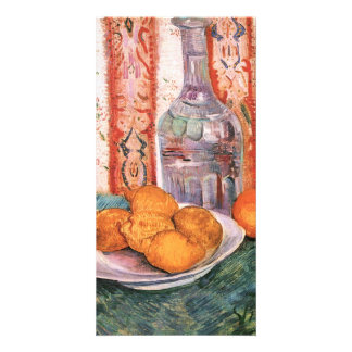 Bottle and lemons on a plate by van Gogh Photo Card Template