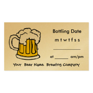 Bottle Appointment Brewing Company, Bar, U-Brew Business Card