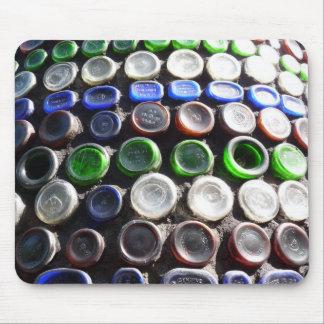 "Bottle Art ""Upcycled"" bottles Photography Mouse Pad"