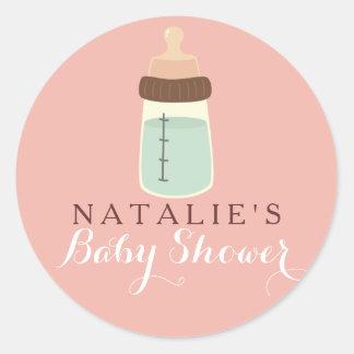 Bottle Baby Shower Sticker