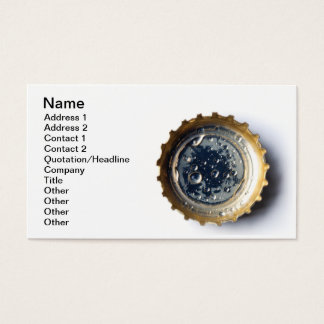 Bottle cap business card