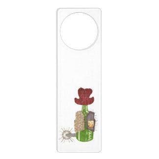Bottle Cowboy Door Hanger