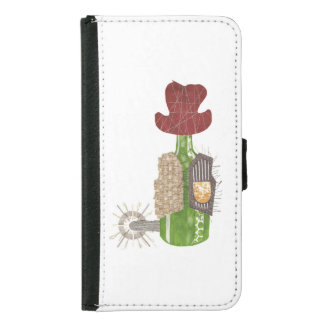 Bottle Cowboy Samsung Galaxy S5 Wallet Case