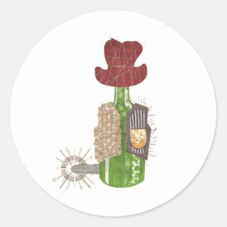 Bottle Cowboy Stickers