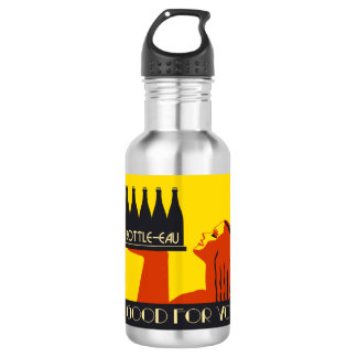 Bottle-eau retro style art deco 532 ml water bottle