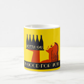Bottle-eau retro style art deco coffee mug