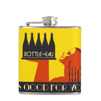 Bottle-eau retro style art deco flask