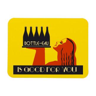 Bottle-eau retro style art deco rectangular photo magnet