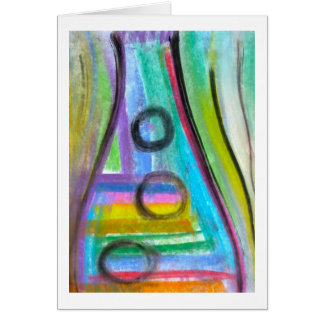 """Bottle Fizz"" Note card, Pastel on paper painting Card"