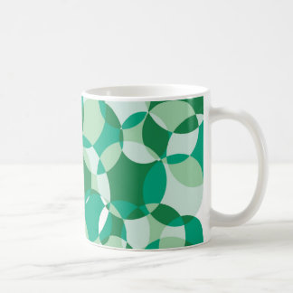 Bottle Green Geometric Pattern Mug