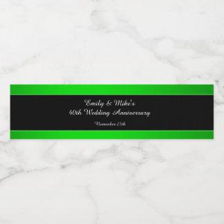 Bottle Label Neon Green Black Wedding Anniversary