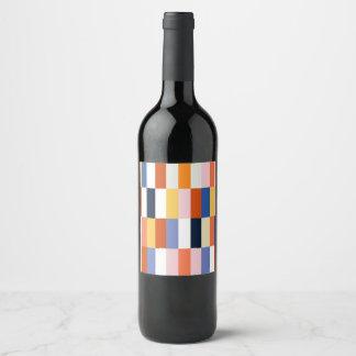 Bottle label with Blocks ethno