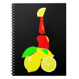 Bottle of Beer and Lemons Notebooks