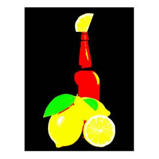 Bottle of Beer and Lemons Postcard