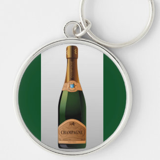 BOTTLE OF CHAMPAGNE KEY RING