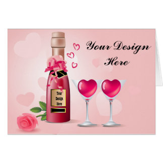 Bottle of Love Card