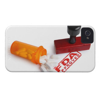 Bottle of Pills and a FDA APPROVED rubber stamp iPhone 4 Covers