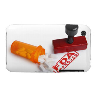 Bottle of Pills and a FDA APPROVED rubber stamp iPhone 3 Case-Mate Case