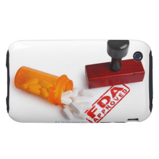 Bottle of Pills and a FDA APPROVED rubber stamp iPhone 3 Tough Cover