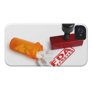 Bottle of Pills and a FDA APPROVED rubber stamp iPhone 4 Cover