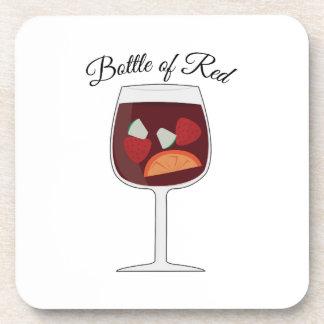 Bottle of Red Beverage Coasters