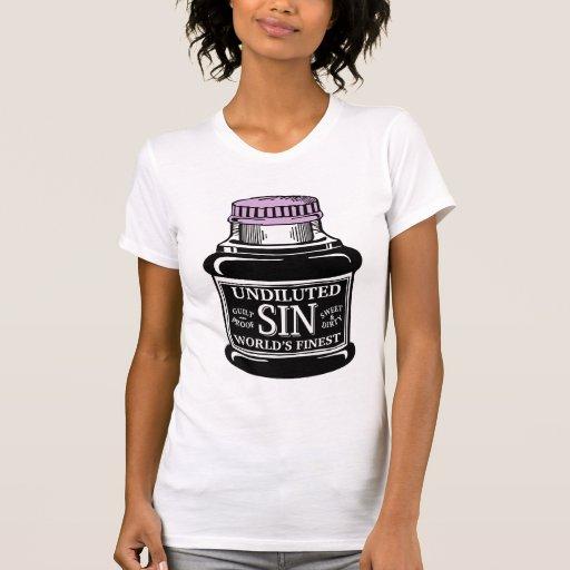 Bottle of Sin ladies singlet T Shirts