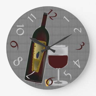 Bottle of Wine Large Clock