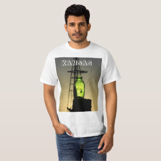 Bottle on a Post with a Windmill T-Shirt