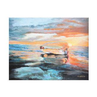 Bottle on the Beach Canvas Print