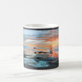 Bottle on the Beach Coffee Mug