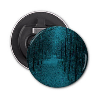 Bottle Opener - Nature Trail Pattern Light Blue