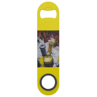 Bottle opener with wine bucket