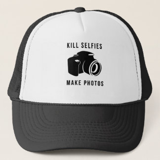 Bottle selfies trucker hat