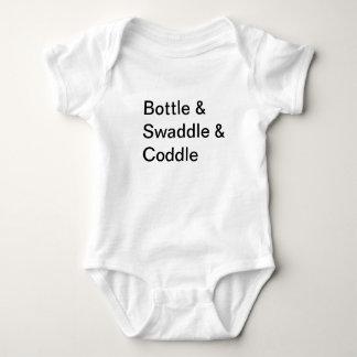 Bottle & Swaddle & Coddle Baby Bodysuit
