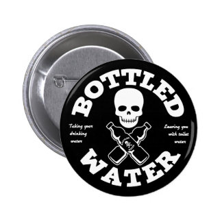Bottled Water 6 Cm Round Badge