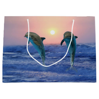Bottlenose Dolphin at Sunrise Large Gift Bag
