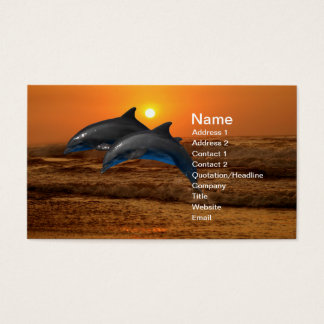 Bottlenose Dolphin at Sunset Business Card