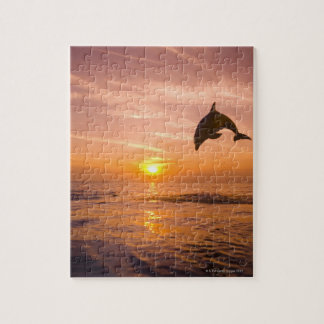 Bottlenose Dolphin jumping 2 Jigsaw Puzzle