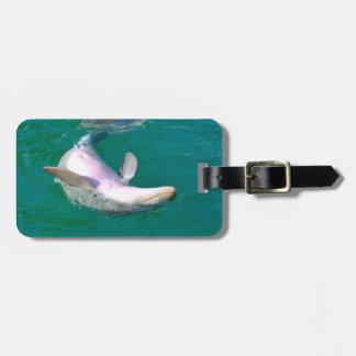Bottlenose Dolphin Upside Down Bag Tag