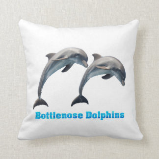 Bottlenose Dolphins image f Polyester-Throw-Pillow Cushion
