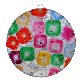 bottles dartboard with darts