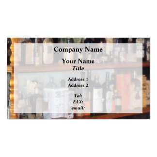 Bottles in General Store Business Cards