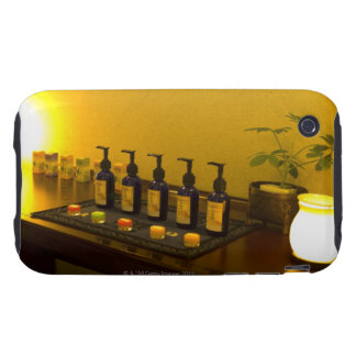 Bottles of aromatherapy oil in the beauty salon, iPhone 3 tough cover