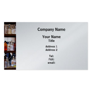 Bottles of Chemical on Shelves - Platinum Finish Pack Of Standard Business Cards