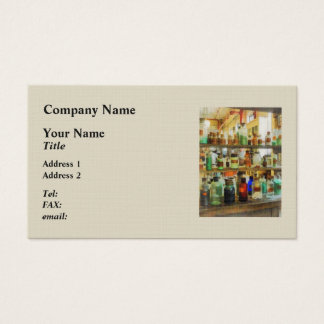 Bottles of Chemicals Green and Brown Business Card