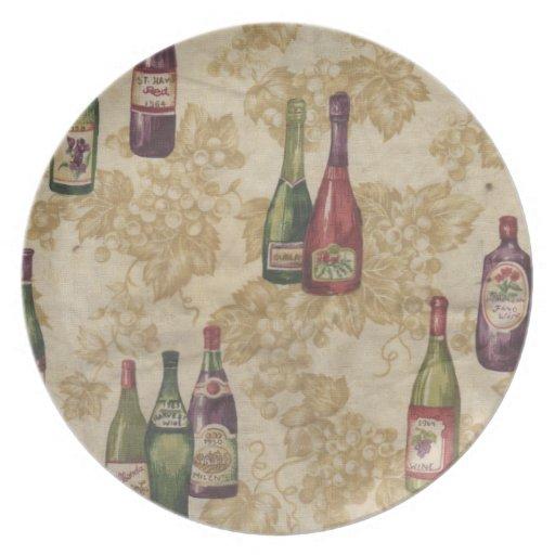 Bottles of Wine Decorative Plate