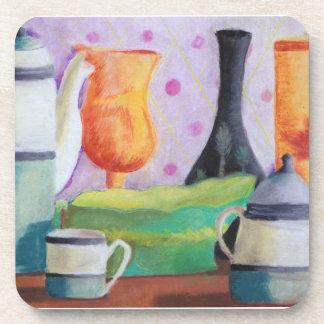 Bottlescape II - Abstract Alice Tea Party Beverage Coasters