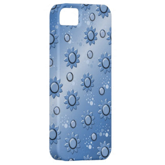 bottom degraded with flowers in blue iPhone 5 cover